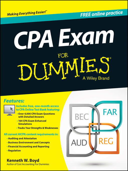 Title details for CPA Exam For Dummies by Kenneth W. Boyd - Available